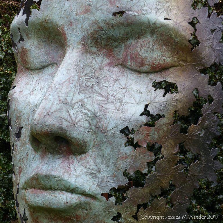 """""""Leaf Spirit"""" bronze sculpture by Simon Gudgeon at Kew Gardens"""