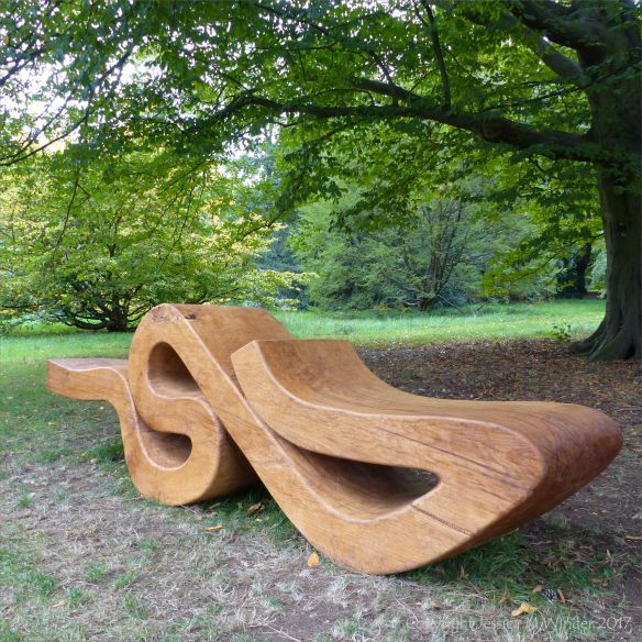 Wooden Seating Sculpture by Nigel Ross at Kew Gardens