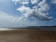 View of Swansea Bay at low tide looking towards Mumbles