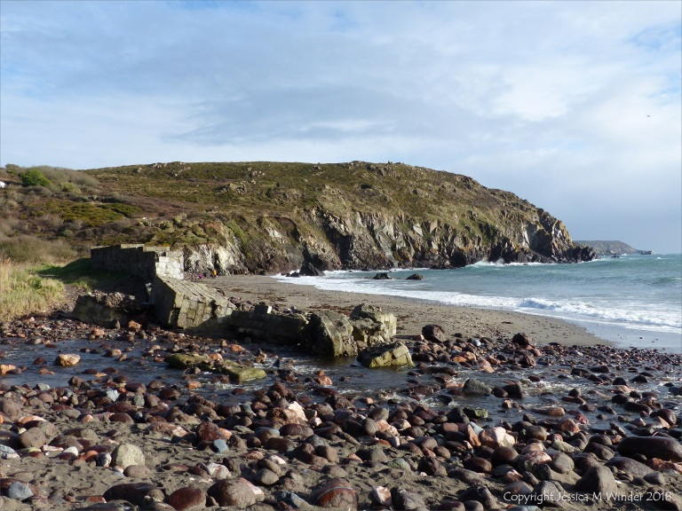 Beachscape at Kennack Sands on the Lizard Peninsula in Cornwall