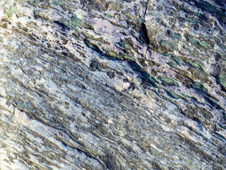 Close-up of rock at Kennack Sands