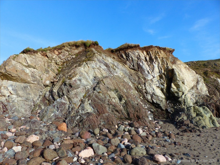 Cliffs at the north end of Kennack Sands