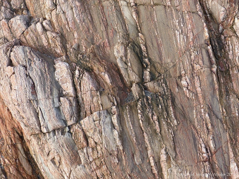 Natural abstract patterns in Cornish rock