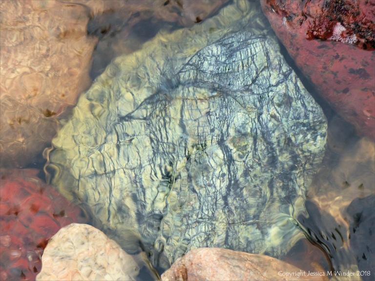 Pebbles in a beach stream at Kennack Sands