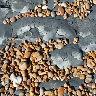 Rock and pebbles at Seatown Beach