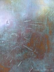 Detail of patination and texture on a bronze sculpture by Barbara Hepworth