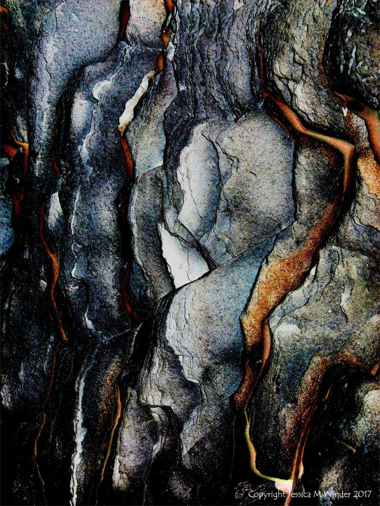 Abstract image of Lias limestone strata