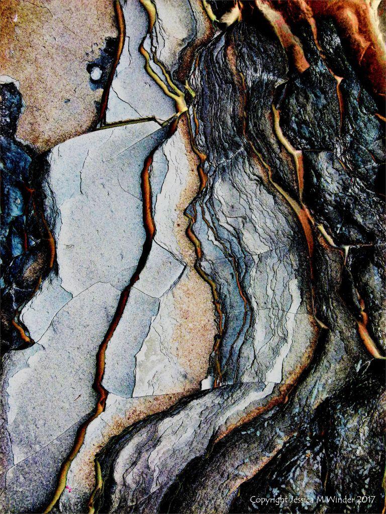 Abstract image of Lias limestone strata