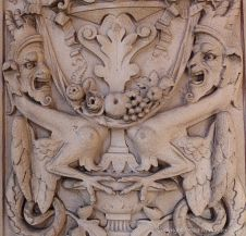Stone carvings of mythical beasts