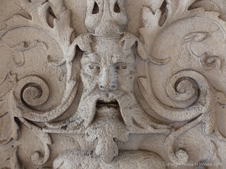 Stone carving of a 'Green Man'