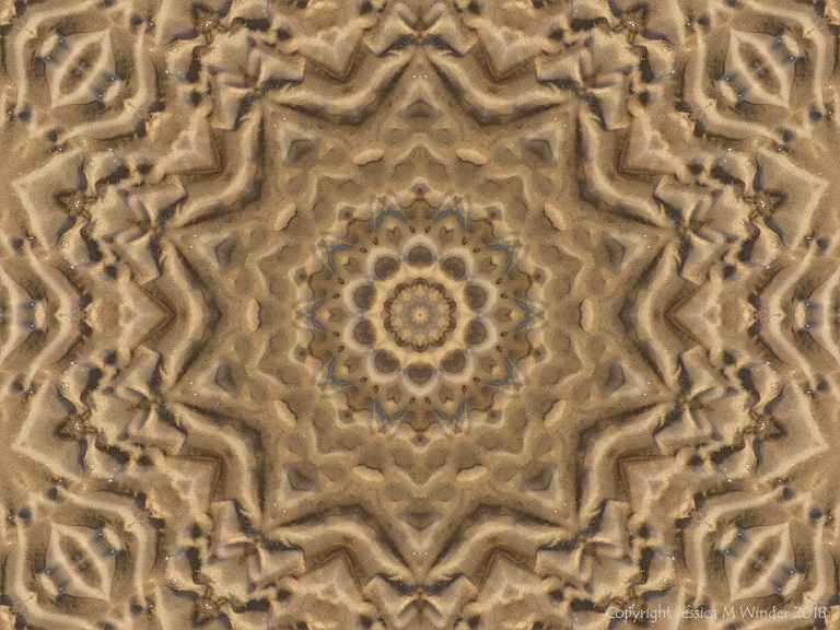 Mendala pattern with sand