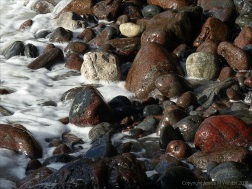 Mostly serpentine pebbles at Kynance Cove