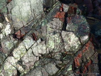Close-up image serpentine rock
