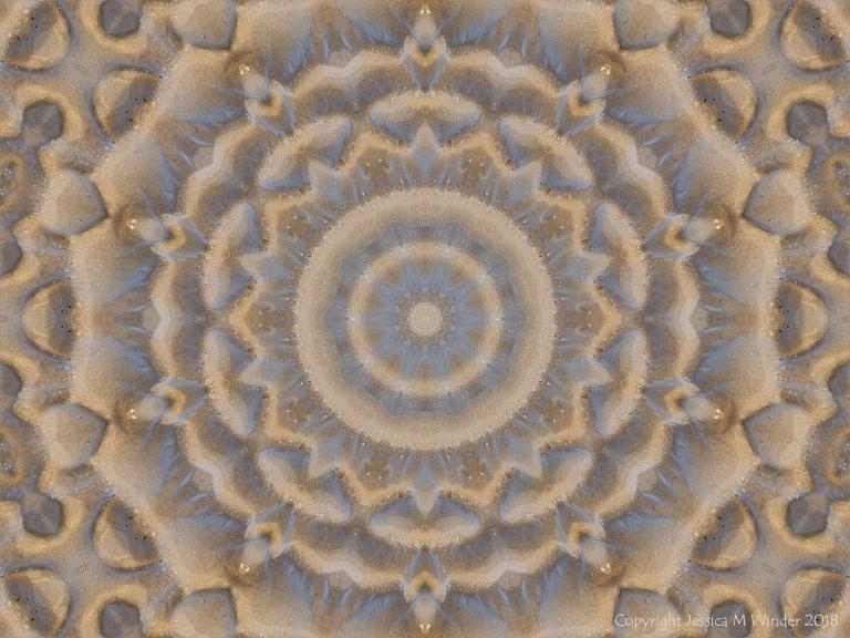 Mendala pattern with sand