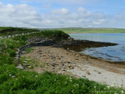 View looking west towards Grit Ness from Point of Hellia in Orkney