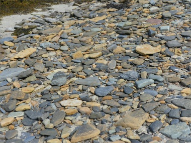 Beach stones at Point of Hellia in Orkney