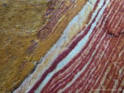 Striped rock found at Studland Bay