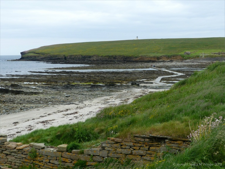 View looking northwest towards Brough of Birsay