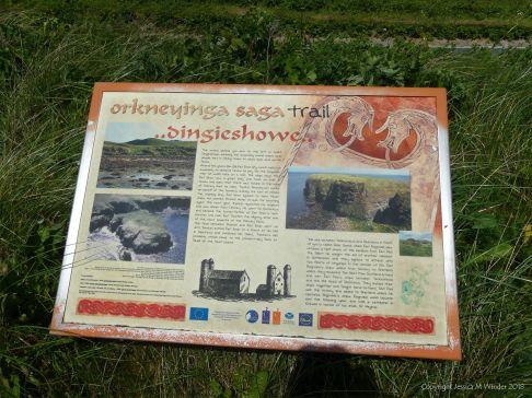 Information board at Dingieshowe Bay