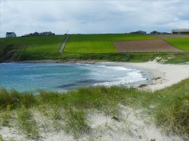 View looking west at Dingieshowe Bay