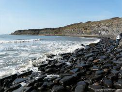 Boulders on the upper shore at Kimmeridge Bay
