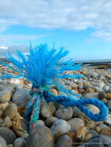 Ringstead Flotsam - a piece of knotted blue rope
