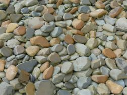 View of pebbles on the beach at Bay of Skaill