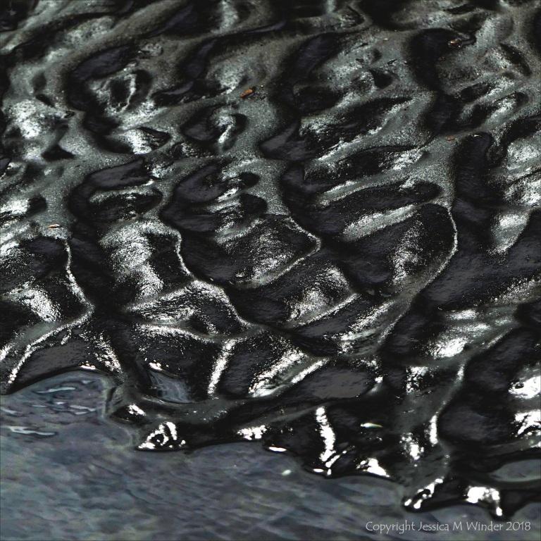Wet sand ripple natural pattern