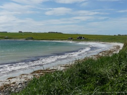 View of Newark Bay in Orkney looking west from the dunes