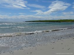 Sparkling blue sea at Newark Bay