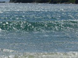 Sunshine on blue sea at Newark Bay
