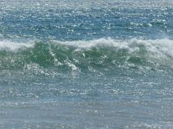 Scintillating surf at Newark Bay
