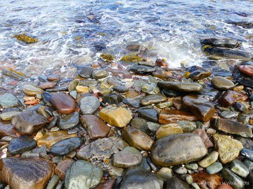 Beach stones at Newark Bay