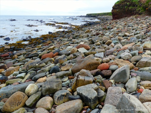 Beach boulders and stones