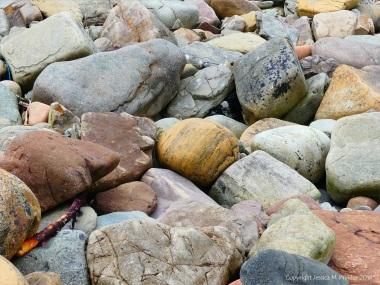 Beach boulders