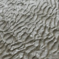 Natural pattern and texture in wet beach sand