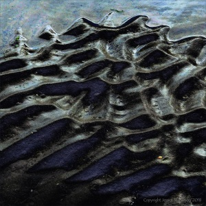 Wet sand ripples (altered photograph)