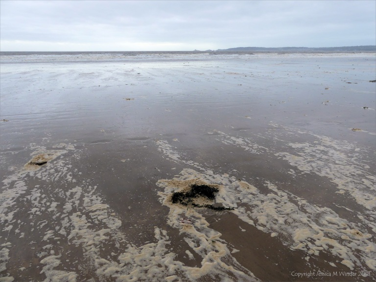 The beach at Swansea Bay after Storm Callum