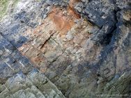 Sedimentary rock strata patterns