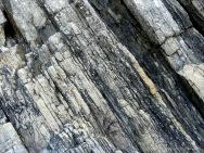 Sedimentary rock strata patterns