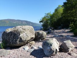 Boulders on the bank of Loch Ness