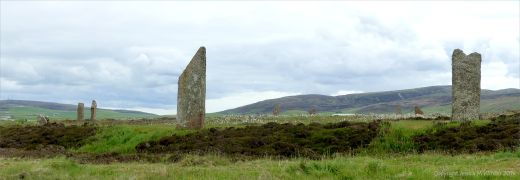 Standing stones at the Ring of Brodgar in Orkney