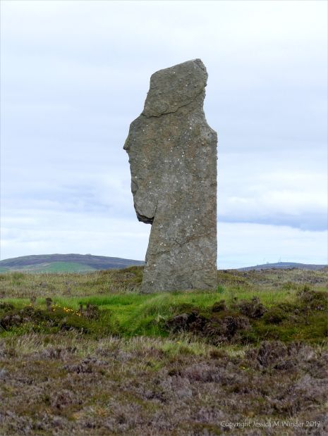 A standing stone at the Ring of Brodgar in Orkney