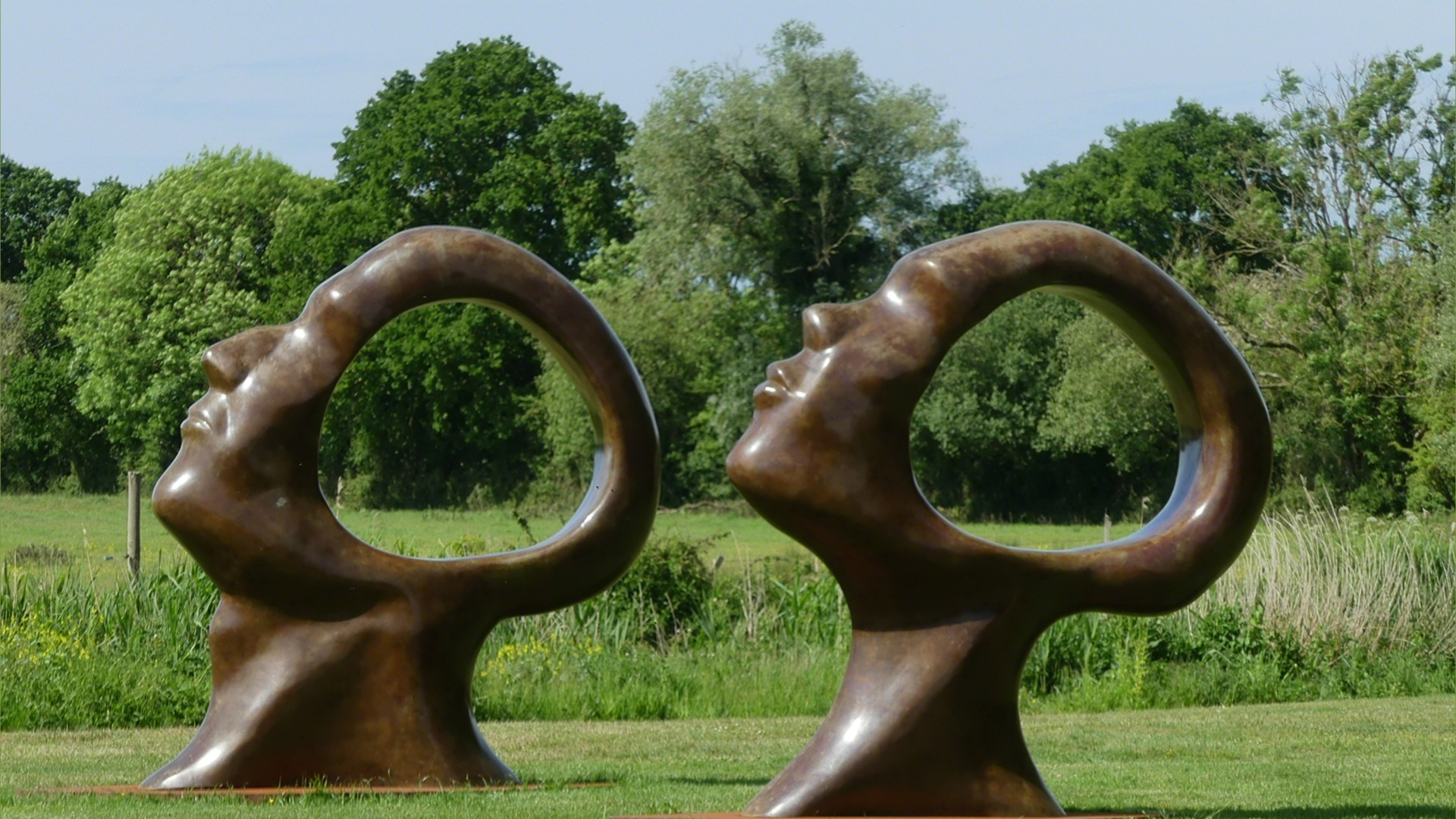 "Bronze sculptures called ""Search for Enlightenment"" by Simon Gudgeon"