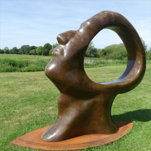 """Part of the bronze sculptures called """"Search for Enlightenment"""" by Simon Gudgeon"""