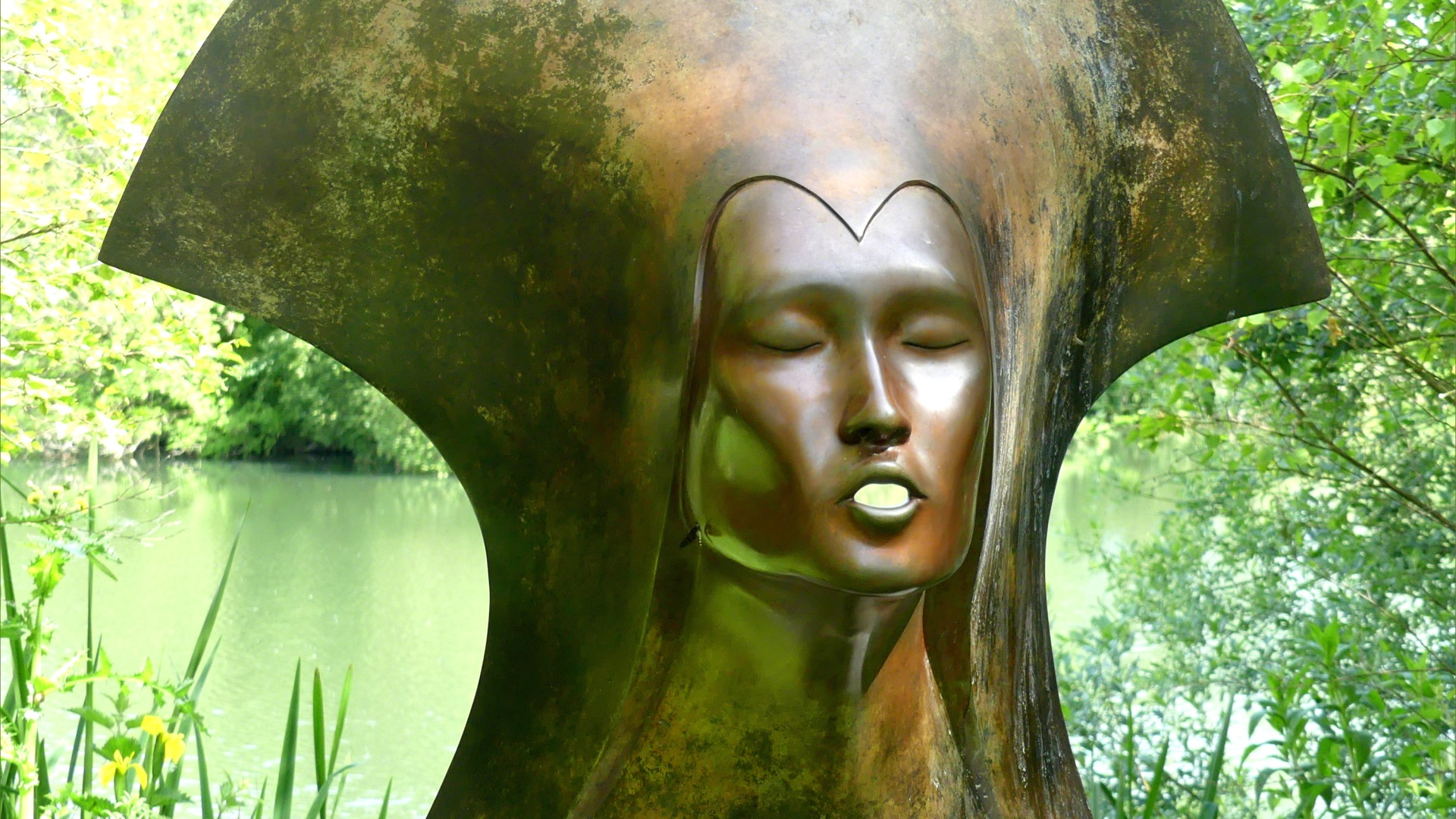 "Bronze sculpture ""Whispering Spirit "" by Simon Gudgeon"
