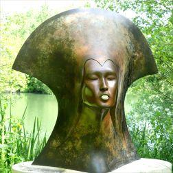 "Bronze sculpture ""Whispering Spirit "" by Simon Gudgeon"