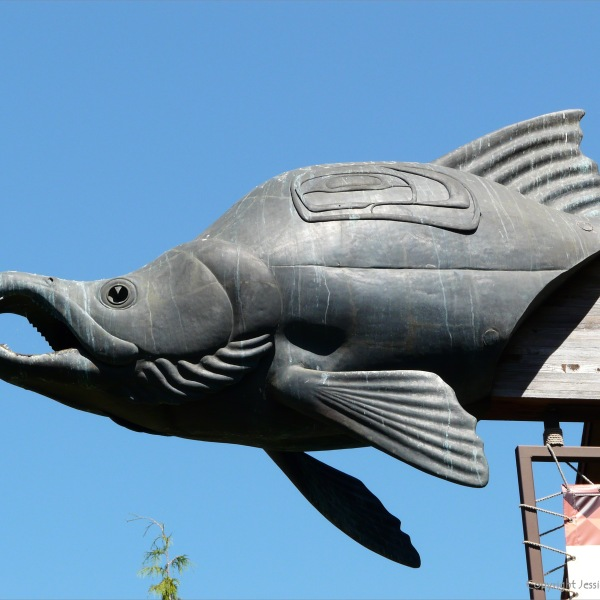 Salmon sculpture