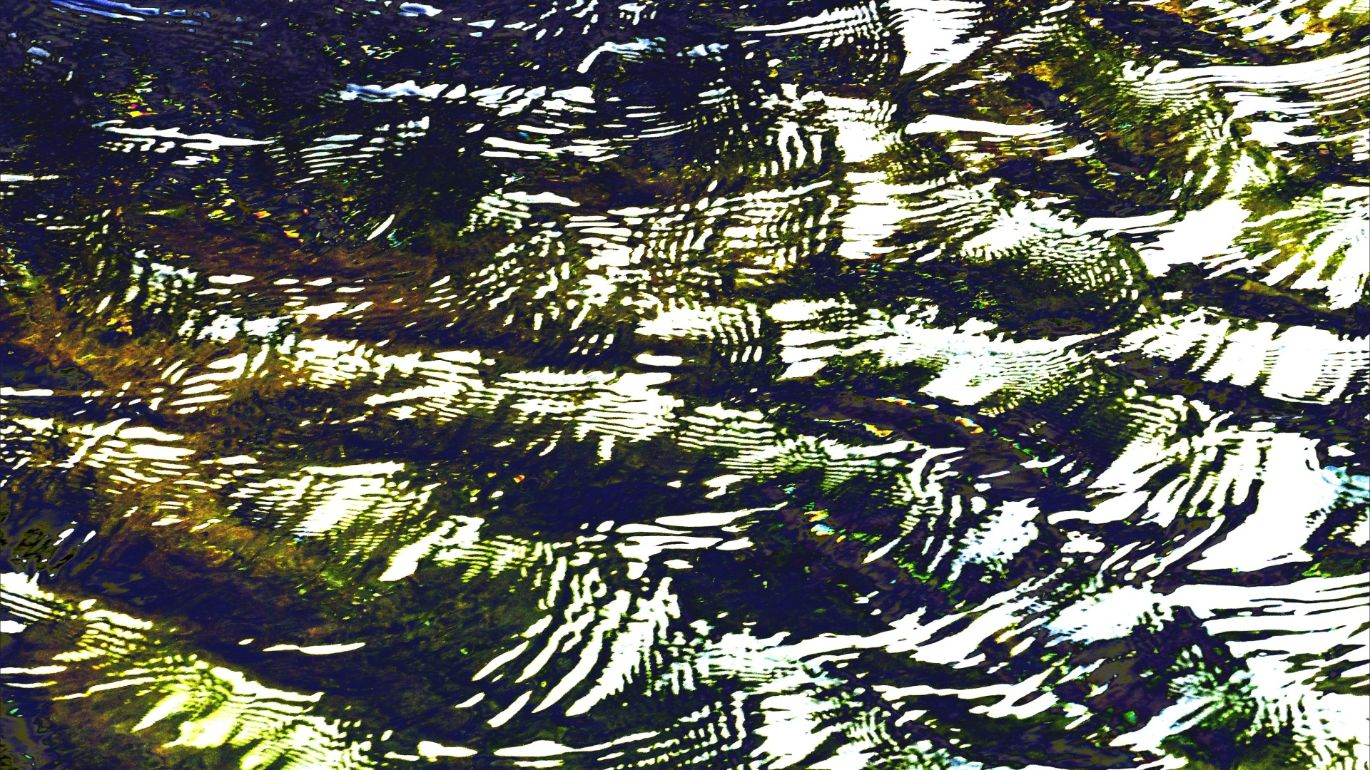Variation in natural water ripple and reflection pattern