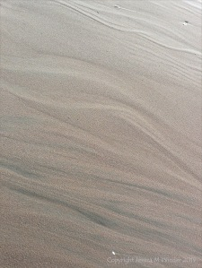 Natural sand texture and pattern on the beach